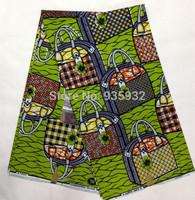 special design bag pattern hollandais wax printed fabric! high quality  super wax hollandais print fabrics!    HF051411