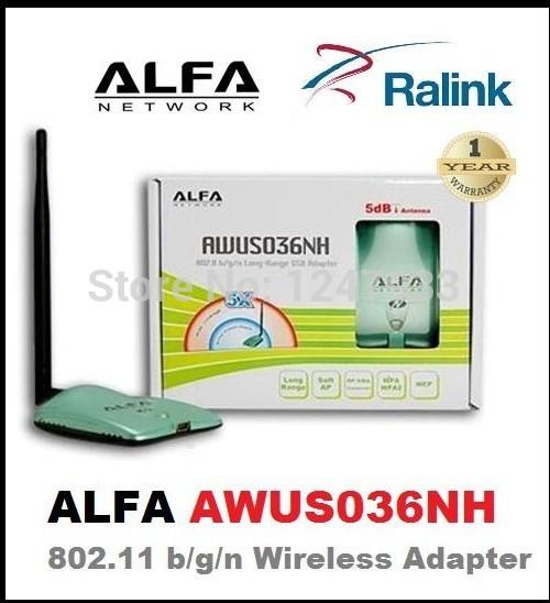 New High Power ALFA AWUS036NH 2000mw Wifi USB Adapter 5db Antenna Ralink3070 Chipset Free Shipping+Dropshipping(China (Mainland))