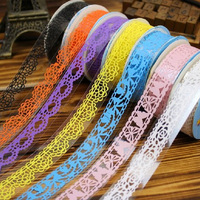 10 PCS/lot DIY Lace Adhesive Tape Masking Tape Decoration Sticker Plastic Sweet Tape For Photo Album Scrapbooking Free Shipping