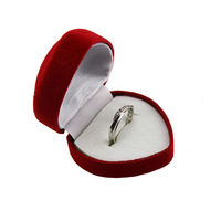 Free shipping!!!lots 24pcs red Colors Jewelry Sets Display Ring Box