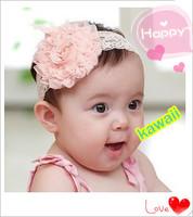 2014 new arrival girls hair accessories,baby cute headhands with big flower kisds & baby headwear summer XLL348