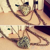 Women New Jewelry Fashion Heart Pattern Retro Long Pendant Sweater Chain Necklaces & pendants 04QI