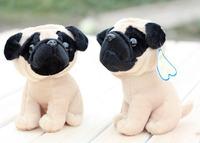 Free shipping 2pcs/lot 18cm creative classic simulation super cute little PUG dog doll plush toys children birthday gift