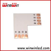 "10mm RGB LED Connector ""L"" Shape For 5050 Strip light 50pcs/lot Free Shipping"