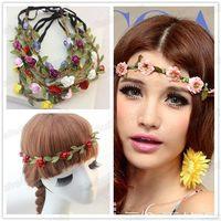 New Arrive Women Girls Boho Floral Flower Hairband Headband For Festival Party Wedding decorations