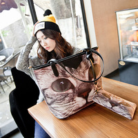 New Sac Fashion for Women Leather Handbag and Purse Cat Shoulder Bags Designer Brand imitation Givency Bag High Quality Tote