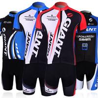 Men High Quality Sportswear Bike Jerseys Suit Giant Cycling Cloth+Shorts Mountain Bike Sports Wear Set