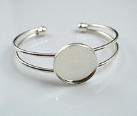 Free shipping !25mm silver plated Bracelet blank, Bracelet Base Jewelry making