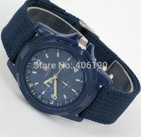 Best Gift- Fashion Boy Men Sport Watches Military Quartz Watch Braided Band woven belt for Men White/Green/Blue/Black