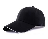 2014New!( free shipping)1PCS Solid Color Velcro Adjustable Unisex Plain Baseball Sport Cap Blank Curved Visor Hat