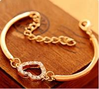 SL038 Hot New Style Fashion Women Simply Love Elegant Imitation Diamond Bracelet Jewelry Accessories Wholesales Free shipping