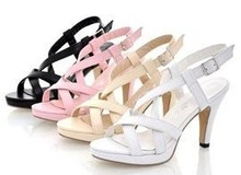free shipping NEW high heel heels fashion women sexy sandals bohemia shoes P372 Hot sell size 32-43(China (Mainland))