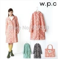New 2014 raincoat  poncho bicycle trench rain coat hooded PVC women raincoat lightweight
