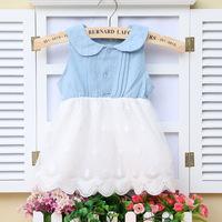 Free shipping 2014 summer Korean dress baby girls'Princess Dress  sleevess dress A288