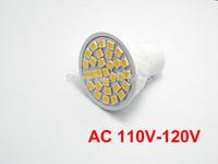 2X  AC 110V- 120V White/Wram white GU10 3W LED 30 SMD 5050 6000K Spotlight bulb lamp