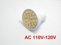 5X  White/Wram white GU10 3W LED 30 SMD 5050 6000K  AC 110V- 120V  Spotlight bulb lamp