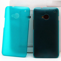 Free shipping! new 2014 1pc/lot 0.3mm Ultra Thin PC Case Candy Color For HTC One M7 Case Mobile Phone Cases