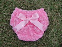Children's Lace Solid Bow Shorts PP Pants Baby Girl Infant Children's Underwear TUTU Style Underwearon Diapers Wholesale