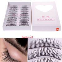 10 Pair Natural Black Long False Eyelashes Eye Lash Makeup 44#  #54888