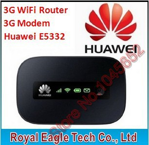 Free shipping HUAWEI E5332 3G WiFi Router,Mobile WiFi Hotspot, 21.6Mbps Sim card Portable 3G WiFi Modem Router(China (Mainland))
