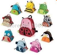 Children School Bag Cartoon Animal Canvas Backpack Baby Toddler Kids Leather Shoulder Kindergarten Schoolbag wholesale