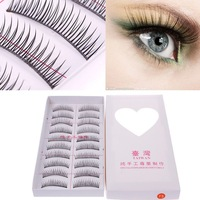 10 Pair Natural Black Long False Eyelashes Eye Lash Makeup F5 #54891