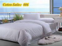 100% cotton satin stripe plain bedding sets win queen king size duvet cover set white hotel  t&quilt cover pillowcases  #C15-12