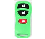 Designer key blanks 2+panic buttons blank key fobs, keyless remote shell in Green
