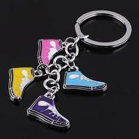 Free Shipping,New 2014 chaveiro gift key chain women men athletic shoes colors 4 enamel charm key ring wholesale 3pcs / lot