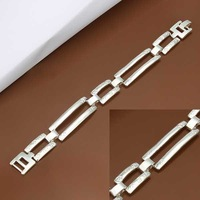 New Arrival Wholesale 925 Silver Bracelet,925 Silver Fashion Jewelry,Inlain Zircon Fashion Bracelet&Bangle SMTH341