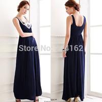 2014 new fashion luxury paillette u bohemia full dress formal dress summer sexy long dress for women free shipping
