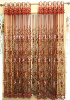 new Luxury and Gorgeous embroidery sheer curtain in 2 colors