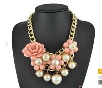 wholesale  European and American fashion sweet style flower necklace