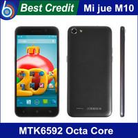 Free shipping Original Mijue M10 M10C MTK6582 Quad Core 5.0 HD IPS Screen1GB RAM 4GB ROM 13.0MP Camera black white Android phone
