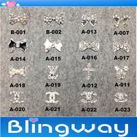 [SP-002]Factory Direct  100Pcs 3D Metal Nail Art Decoration / Cellphone Rhinestone Glitters Decoration + Free Shipping
