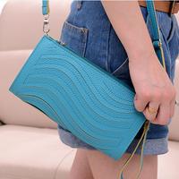 2014 long design wallet wave fashion women's handbag one shoulder cross-body day clutch mini bags