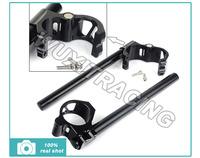 41MM CNC Split Clip On Ons Handle Bar For HONDA CBR 400 600 1000 CR 450 NT NX 650 RVF 720 VF VT 750 PC 800 ST 1100 GL 1200