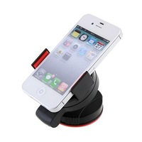 Free Shipping! Universal Mobile Phone Windshield Car Holder Black + Red