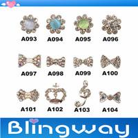 [SP-009]Factory Direct  100Pcs 3D Metal Nail Art Decoration / Cellphone Rhinestone Glitters Decoration + Free Shipping