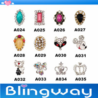 [SP-003]Factory Direct  100Pcs 3D Metal Nail Art Decoration / Cellphone Rhinestone Glitters Decoration + Free Shipping