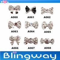 [SP-006]Factory Direct  100Pcs 3D Metal Nail Art Decoration / Cellphone Rhinestone Glitters Decoration + Free Shipping