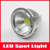 10pcs/lot MR16 Epistar Chip 5w COB LED Light Bulb Spotlight Cool White/Warm White Dimmable AC100-240V Lamps For Home Lighting