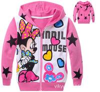 2014 children clothing sets beautiful designs children cartoon hoodies Mickey Mouse  beautiful design wholesale price
