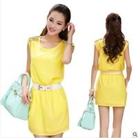 new 2014 cute chiffon women summer dress,women dress,sexy casual summer dresses,novelty dresses