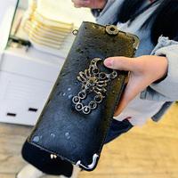 New women's mini bag long design wallet punk diamond scorpion wallet drip-drop casual clutch