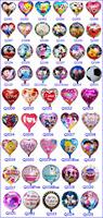 Free shipping party supplies balloon wholesale 10pcs/lot balloons aluminium 45*45cm More than 54 design  foil balloon