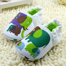 Nuevo envío libre unisex del bebé elefante infantil Cuna Patrón zapatos del niño elástico antideslizante Prewalk(China (Mainland))