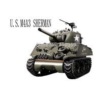 Free EMS U S Army Sherman M4A3 Tank 1 16 Scales 2 4G Remote Control Simulation