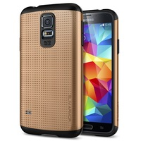 100pcs New  DHL Tough slim Armor Luxury Case for Samsung galaxy S5 i9600  Champagne Gold Hard Cover Slim wholesale