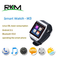 "New Arrival!RKM Bluetooth Smart Watch MTK6250 1.54"" screen connecting with Android smart phone by Bluetooth galaxy gear"